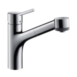 Hansgrohe Talis S single lever kitchen mixer with pull-out spray chrome (32841000)