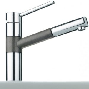 Franke 350 single lever mixer with pull-out spout stone grey
