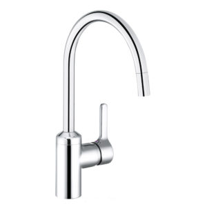 Kludi Bingo Star single lever, kitchen mixer, with pullout spout stainless steel (428519678)